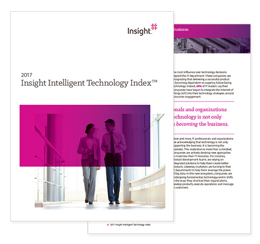 2017 Insight Intelligent Technology Index report cover, which you can register to download