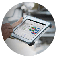 Microsoft Dynamics 365 tablet device
