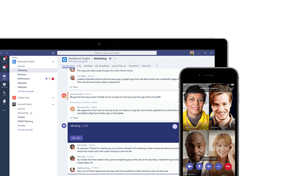 Microsoft Teams screenshot of chat