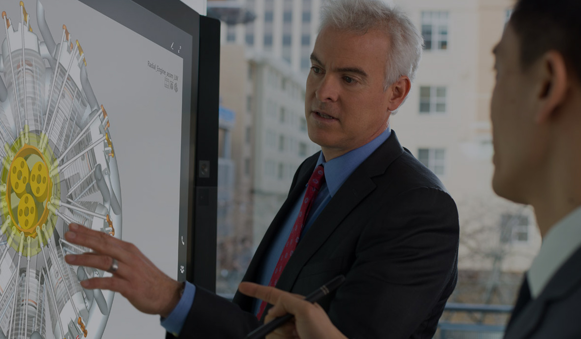 Video of the Surface Hub in action