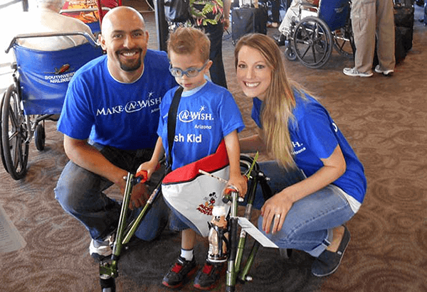 Family at make a wish event