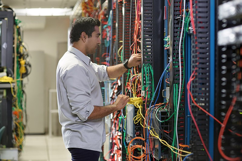 IT admin in data center