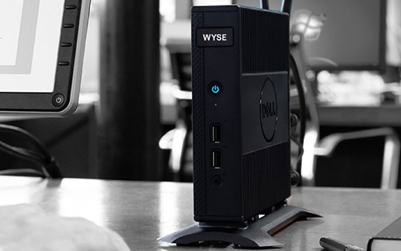 Dell EMC Wyse thin client product on desk
