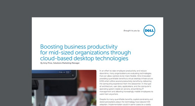 View of Boosting Business Productivity for Mid-Sized Organizations Through Cloud-based Desktop Technologies whitepaper