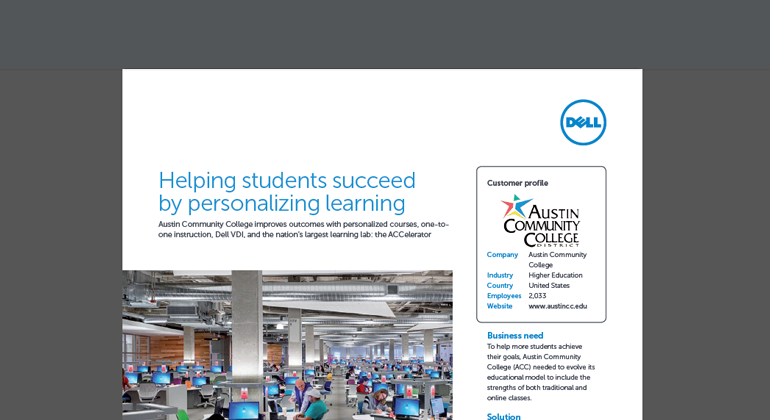 Preview of Helping Students Succeed by Personalizing Learning case study