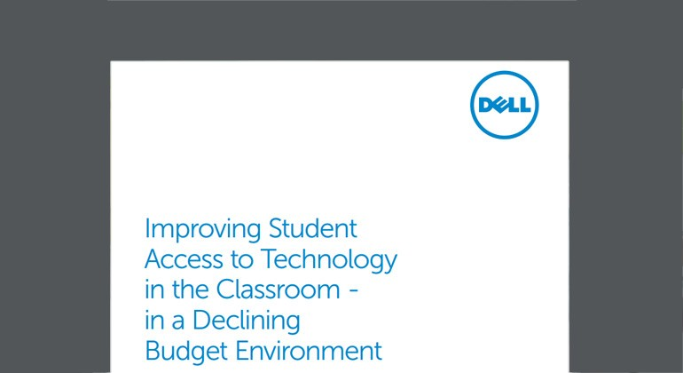 Cover view of Improving Student Access to Technology in the Classroom whitepaper