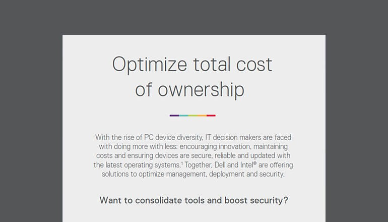 Optimize Total Cost of Ownership Infographic