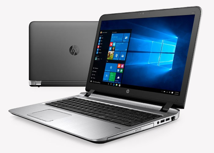 Side and back view of HP ProBook 450 using Windows 10