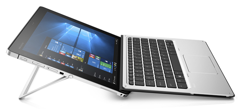 HP Elite x2 1012 2-in-1 laptop detached from keyboard with stylus pen