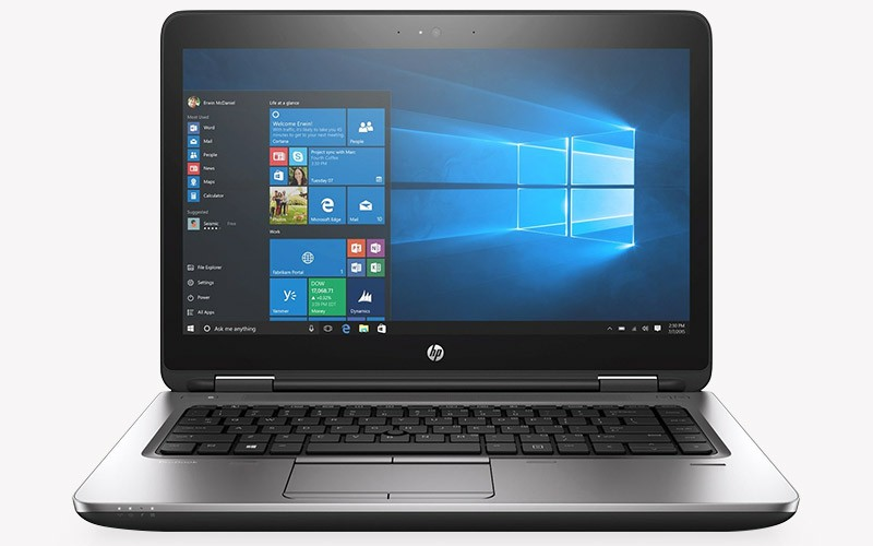 HP ProBook 640 G2 business laptop running Windows 10