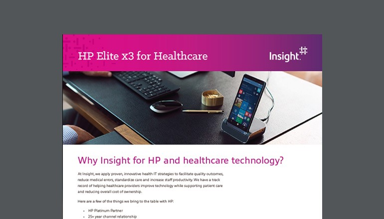 HP Elite x3 for Healthcare datasheet thumbnail