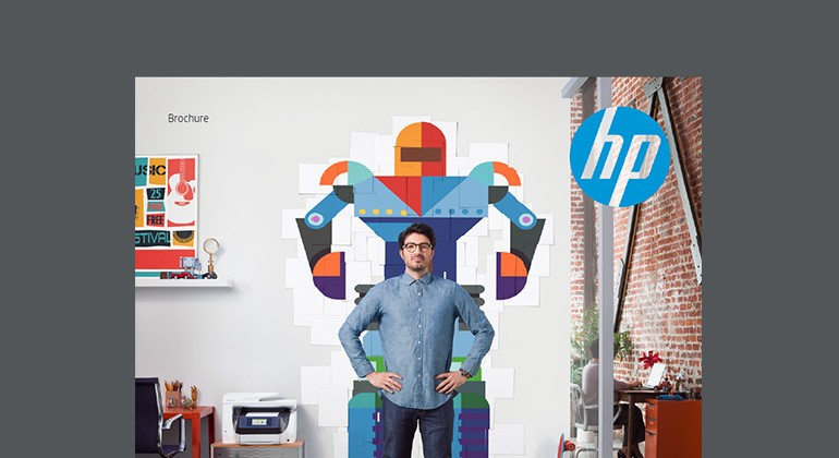 Cover of HP OfficeJet Pro Series brochure