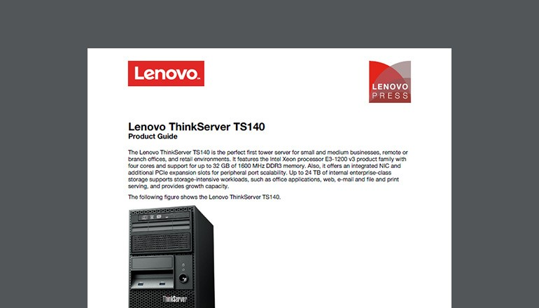 Lenovo ThinkServer TS140 Product Guide cover image