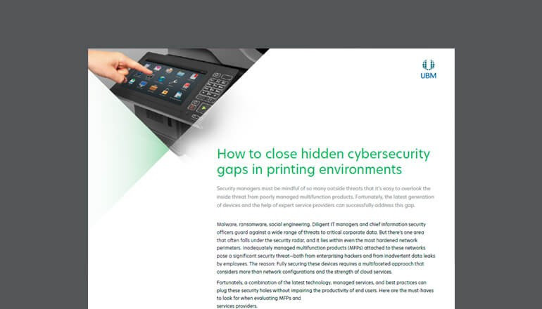 How to Close Cybersecurity Gaps in Printing cover