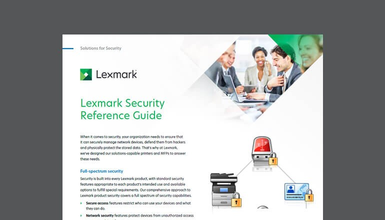Lexmark Security Reference Guide cover