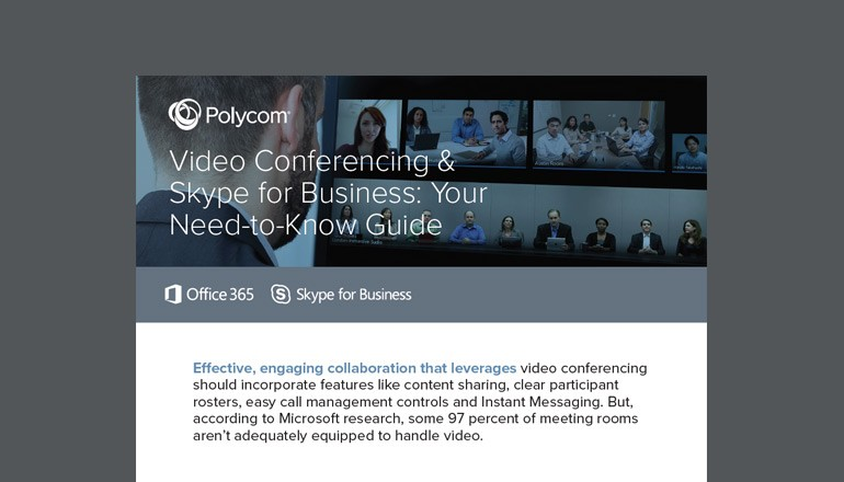 Video Conferencing & Skype for Business: Your Need-to-Know Guide cover