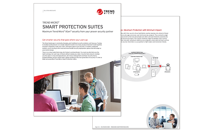 Trend Micro Smart Protection Suites datasheet content