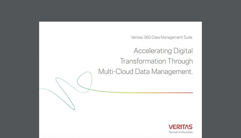Veritas data management 360 brochure cover