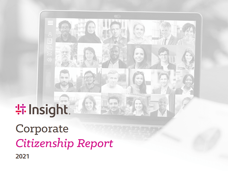 Cover of the Insight Corporate Citizenship report