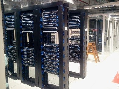 Close up of Microsoft's data center stacks