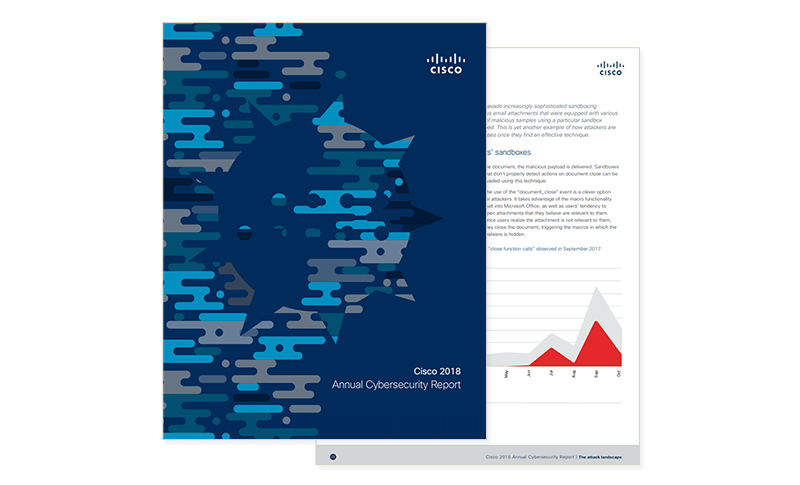 Cover image of Cisco Cybersecurity Report 2018