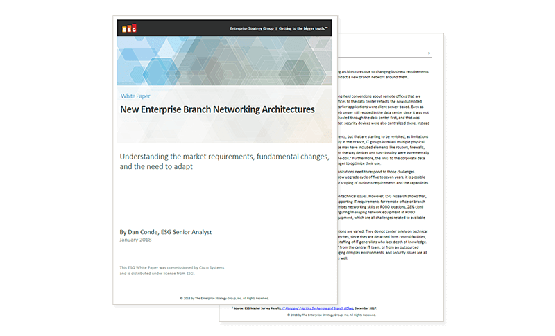 Cover image of New Enterprise Branch Networking Architectures
