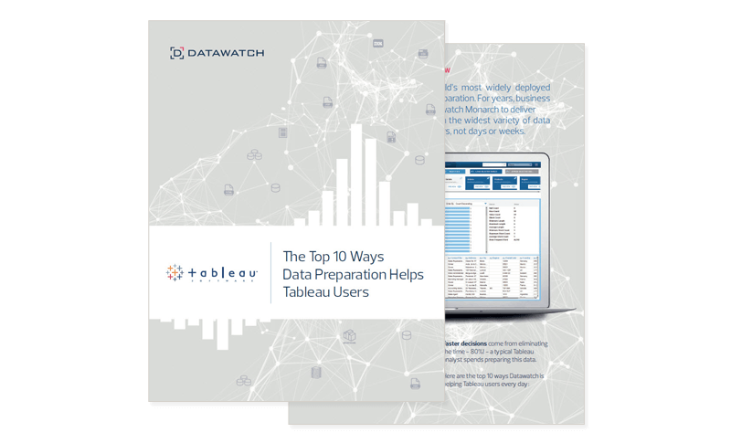 The Top 10 Ways Data Preparation Helps Tableau Users ebook cover