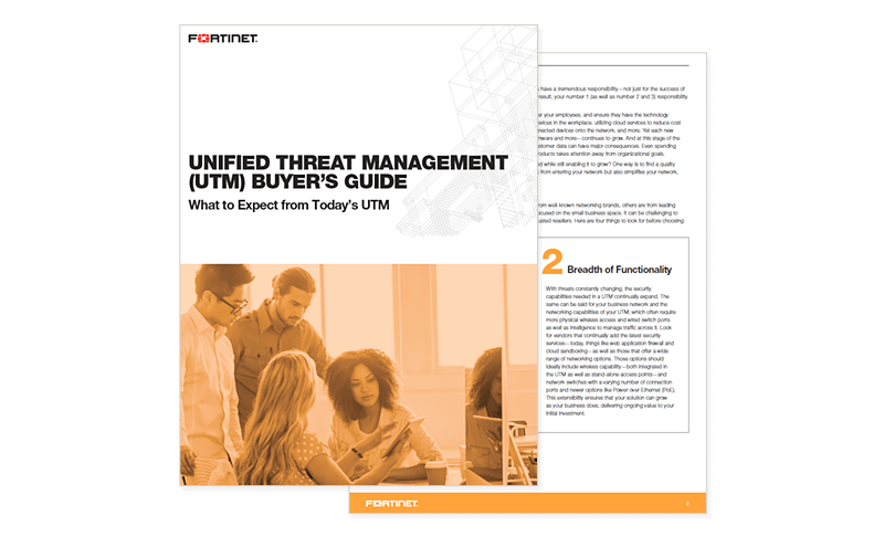 Fortinet Unified Threat Management Guide cover page