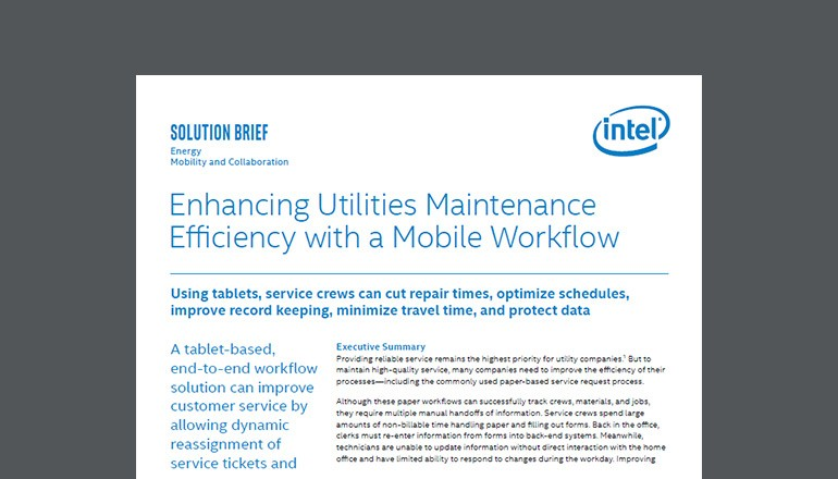 Enhancing Utilities Maintenance Efficiency solution brief Thumbnail