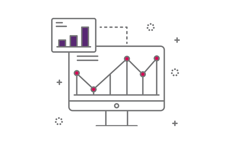 Analytics icon graphic