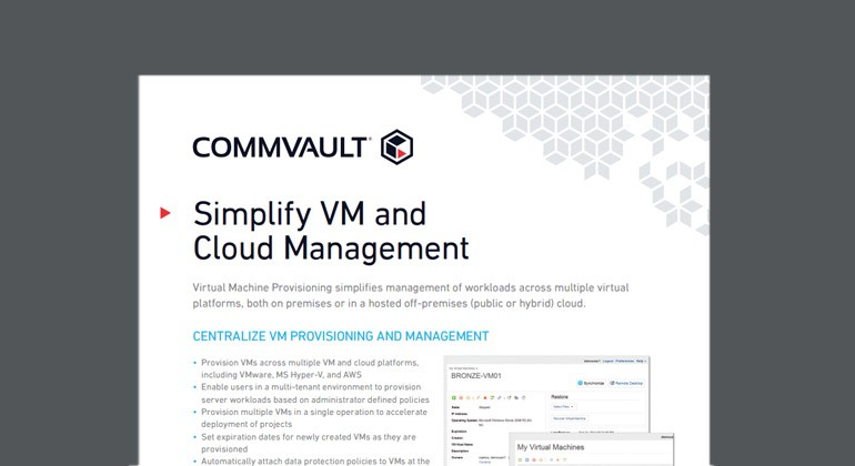 Preview of Simplify VM and Cloud Management datasheet
