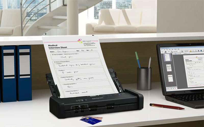 Epson scanner on desk