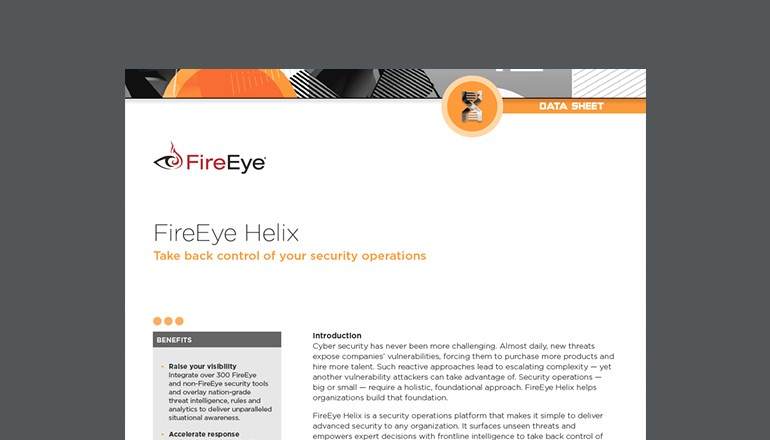FireEye Helix Security Operations Datasheet thumbnail