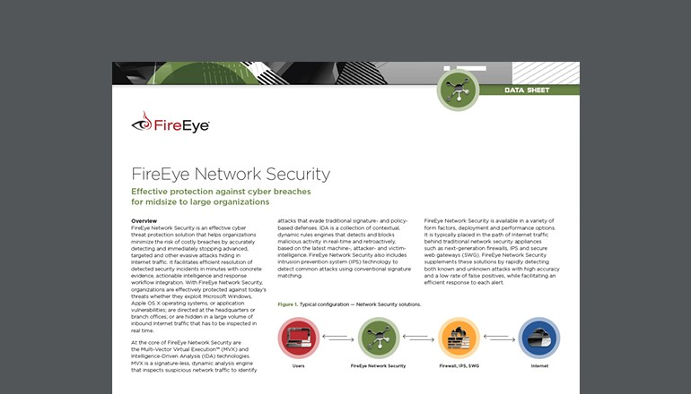 FireEye Network Security Datasheet cover thumbnail