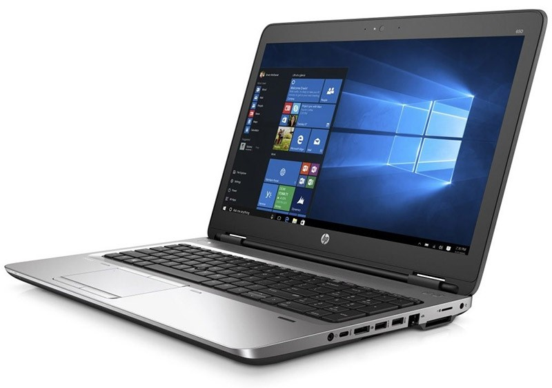 HP ProBook 650 G2 business laptop running Windows 10