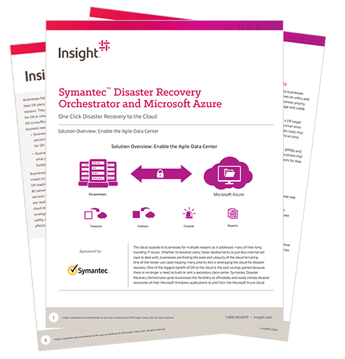 Internal view of the Symantec disaster recovery whitepaper pages
