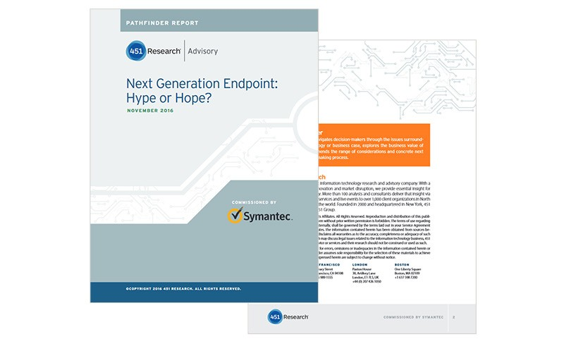 Next Generation Endpoint: Hype or Hope? contents preview