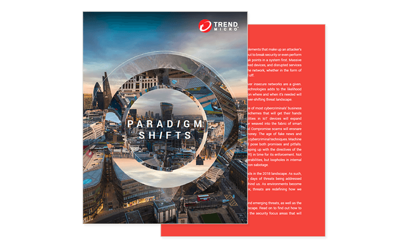 Trend Micro 2018 Security Predictions cover page