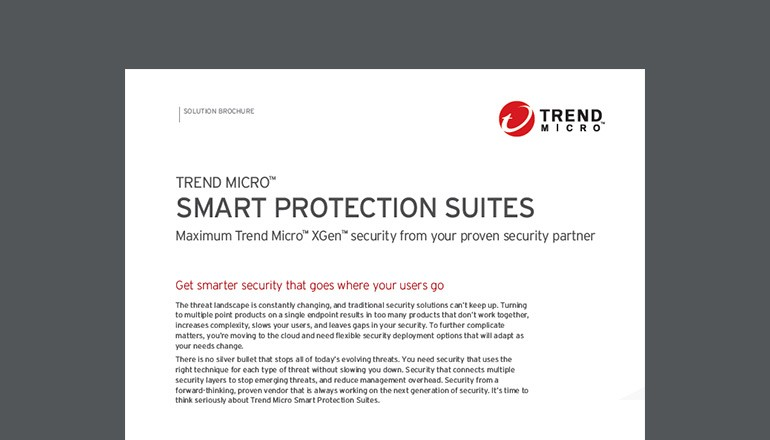 Trend Micro Smart Protection Suites datasheet thumbnail