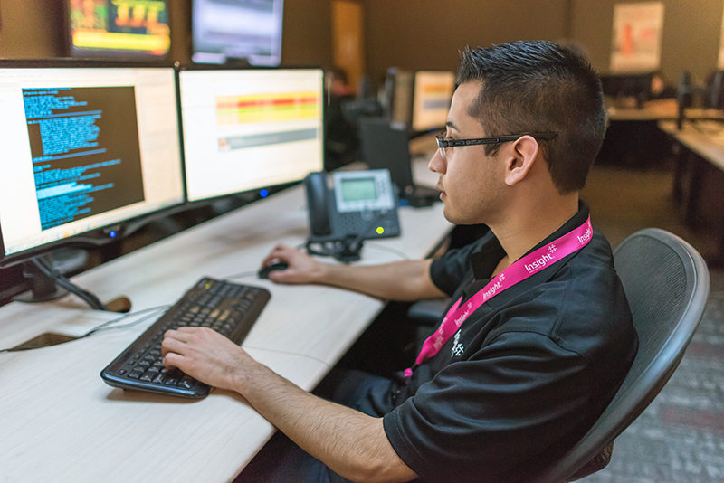 Network operations admin reporting security and network performance information for client